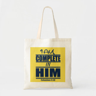 Eu estou completo nele o bolsa devocional do
