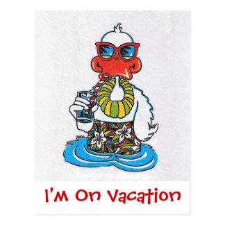 Eu estou em férias cartão postal