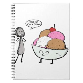 Eu estou em uma dieta caderno