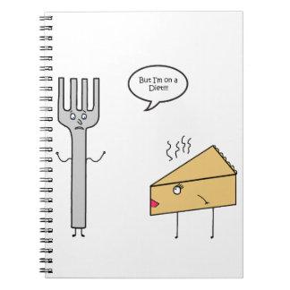 Eu estou em uma dieta cadernos