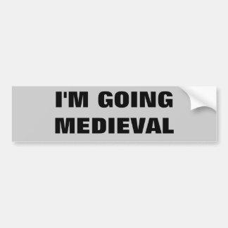 Eu estou indo medieval adesivos