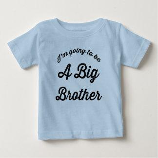 Eu estou indo ser um big brother camiseta para bebê