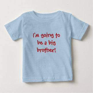 Eu estou indo ser um big brother! camiseta para bebê