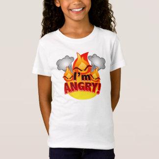 Eu estou irritado! T-shirt do branco das meninas Camiseta