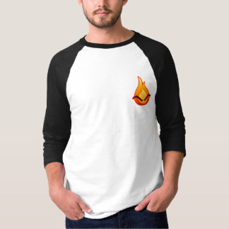 Eu estou irritado! T-shirt do Raglan dos homens Camiseta