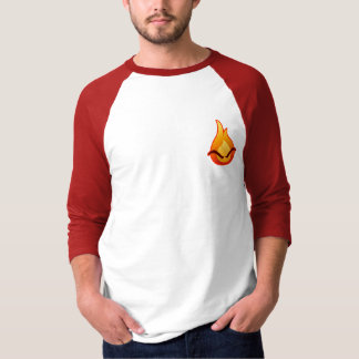 Eu estou irritado! T-shirt vermelho do Raglan dos Camiseta