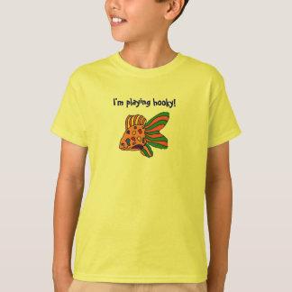 Eu estou jogando o hooky! camisa dos peixes t-shirt