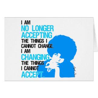 Eu estou mudando o cartão das coisas