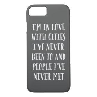 Eu estou no amor com cidades capa iPhone 7