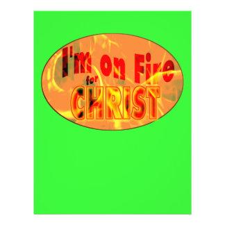 Eu estou no fogo para o CRISTO Flyer 21.59 X 27.94cm