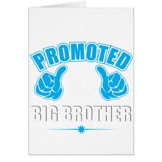 Eu estou obtendo promovi ao big brother cartão comemorativo