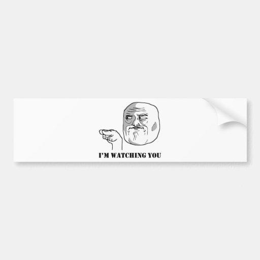 Eu estou olhando-o - meme adesivos