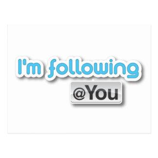 """""""Eu estou seguindo cartão do @you"""""""