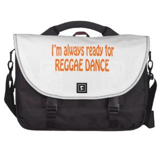 Eu estou sempre pronto para a dança da reggae bolsas para notebook