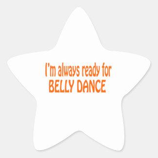 Eu estou sempre pronto para a dança do ventre adesito estrela