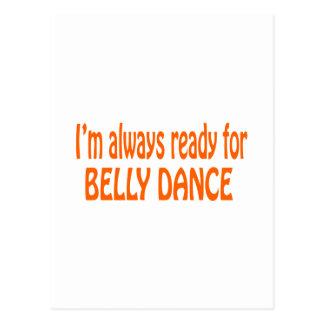Eu estou sempre pronto para a dança do ventre cartoes postais