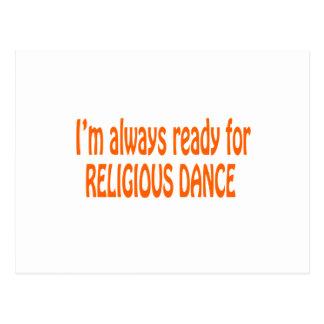 Eu estou sempre pronto para a dança religiosa cartões postais