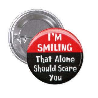 Eu estou sorrindo bóton redondo 2.54cm