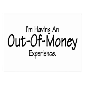 Eu estou tendo fora da experiência do dinheiro cartão postal