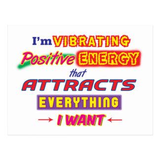 Eu estou vibrando o cartão positivo da energia