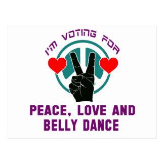 Eu estou votando para a paz, o amor e a dança do cartões postais