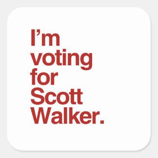 Eu estou votando para o caminhante 2016 de Scott Adesivos Quadrados