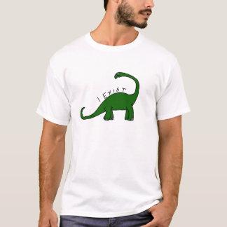 Eu existo camiseta do dinossauro do Brontosaurus