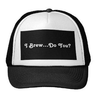 Eu fabrico cerveja… faço-o? boné