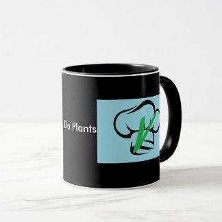 Eu faço a caneca das plantas com logotipo de
