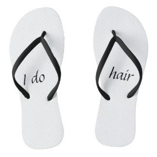 Eu faço chinelos do cabelo