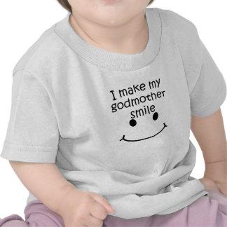Eu faço minha madrinha sorrir camisetas