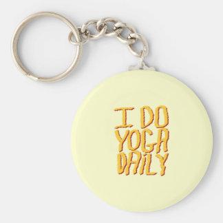 Eu faço o diário da ioga Amarelo Chaveiro