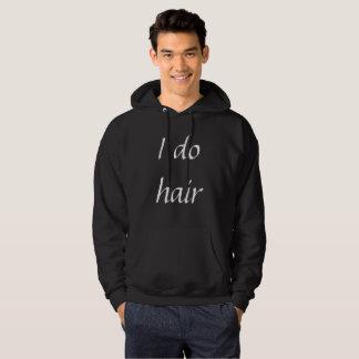Eu faço o hoodie do cabelo moletom