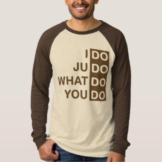 Eu faço o judo… T-shirt do Raglan