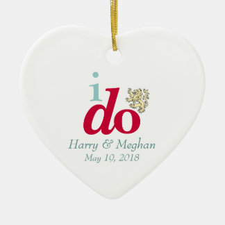 EU FAÇO o ornamento real de Harry & de casamento