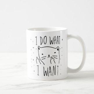 Eu faço o que eu quero caneca de café