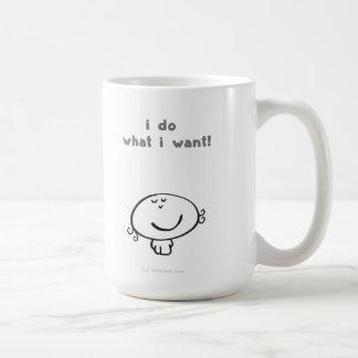 eu faço o que eu quero! caneca de café