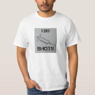 """""""Eu faço t-shirt dos tiros"""" Camiseta"""