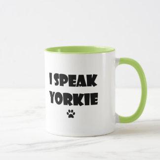 Eu falo a caneca de Yorkie
