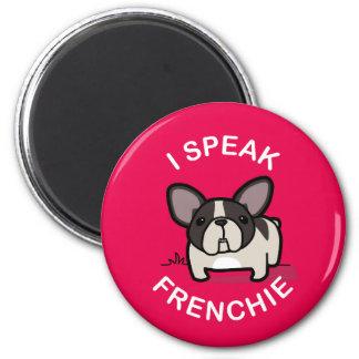 Eu falo Frenchie - rosa Ímã Redondo 5.08cm