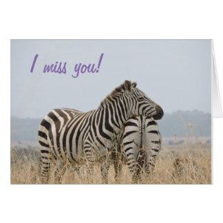 Eu falto-o cartão da zebra