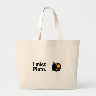 Eu falto Pluto. Sacola Tote Jumbo