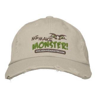 Eu faz o boné de beisebol do logotipo do monstro