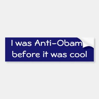 Eu fui Anti-Obama antes que estêve legal Adesivos