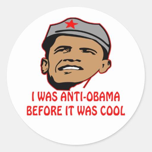 Eu fui Anti-Obama antes que estêve legal Adesivo Redondo