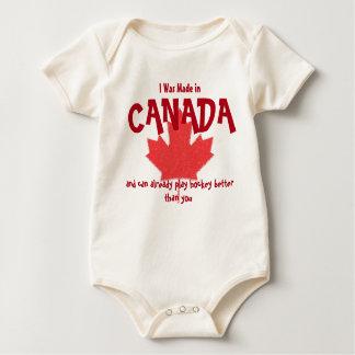Eu fui feito em Canadá… Macacões