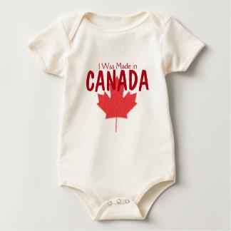 Eu fui feito em Canadá Macacão