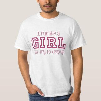 Eu funciono como uma tentativa da menina apenas camiseta