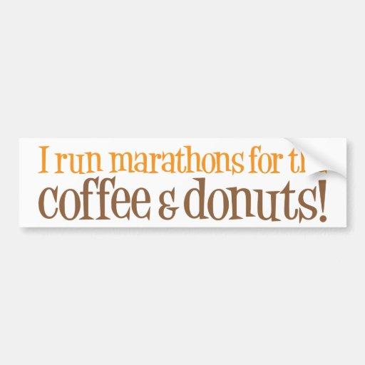Eu funciono maratonas para o café e as rosquinhas adesivos
