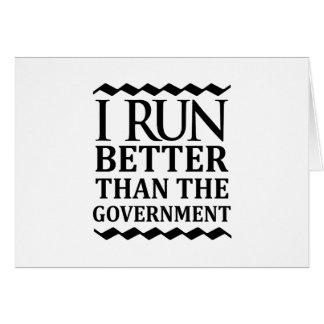Eu funciono melhor do que o governo cartão